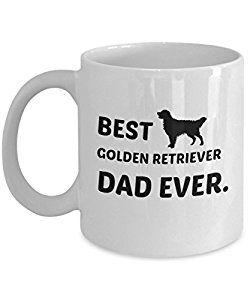 Amazon Com Best Golden Retriever Dad Ever Mug Kitchen Dining