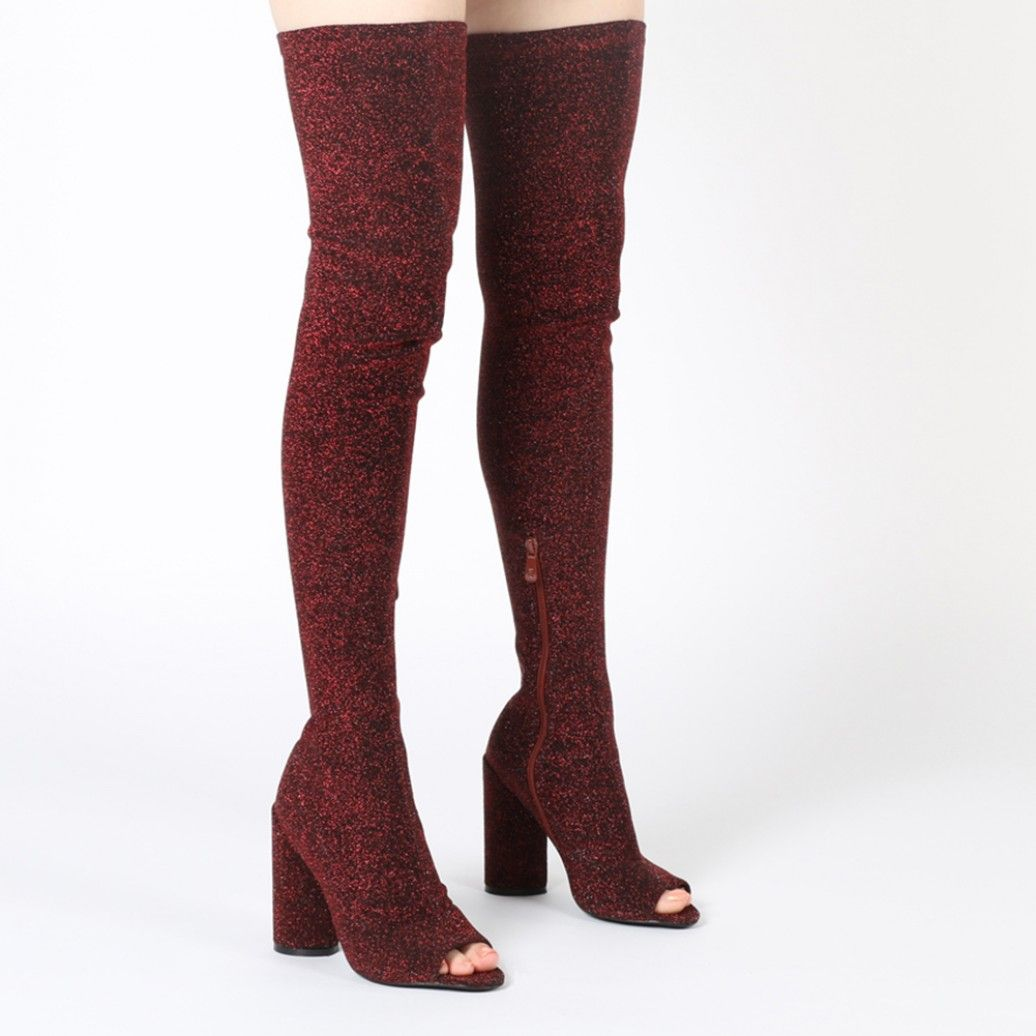 41687ff6494 Jana s for all you cheeky chappies out there. These thigh high booties are  sure to make a statement. The sock fit design means these will cling to  your legs ...
