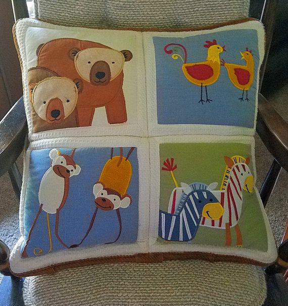 Noah's Arc Nursery Pillow by CircleOakTreasures on Etsy
