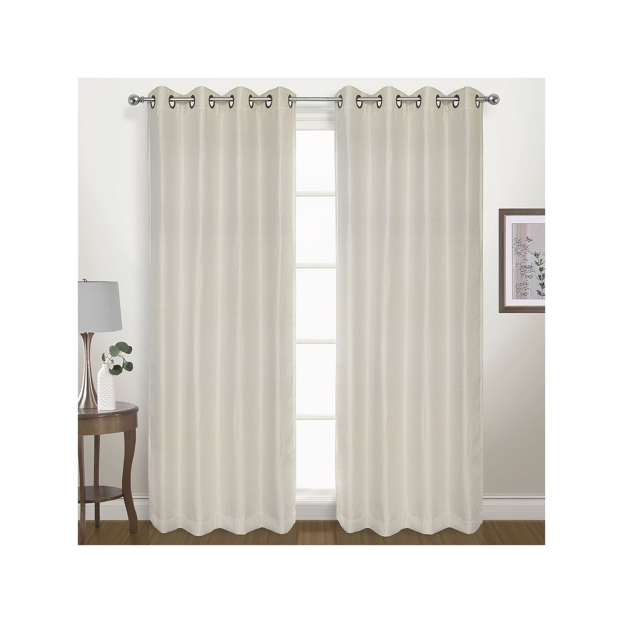 United Curtain Co Blackout 1 Panel Herringbone Window Curtain