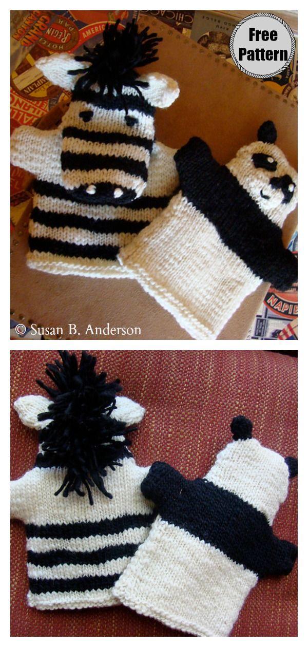Zebra Soft Toy Free Knitting Pattern and Video Tutorial