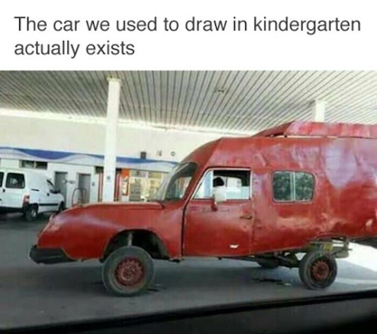 In kindergarten??? I drew one of these yesterday, !!!