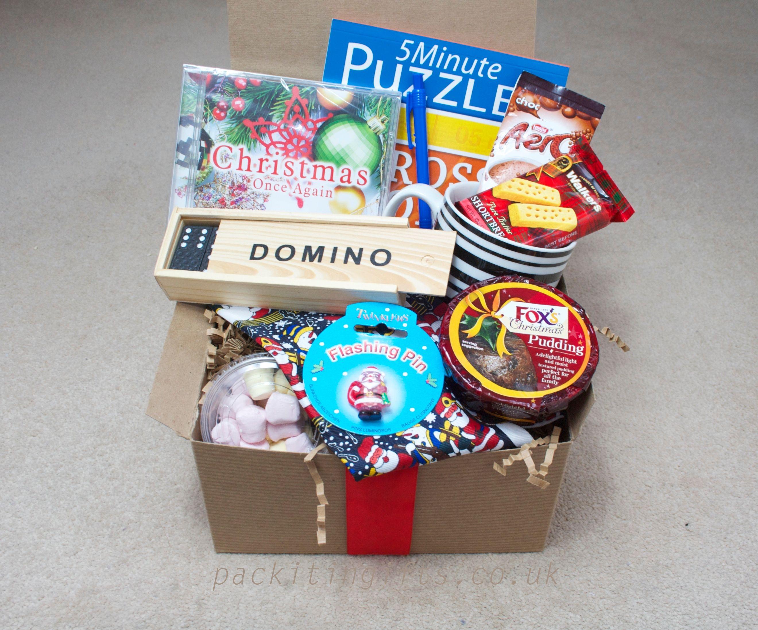 Mens Christmas gift box, with a mug, dominos, christmas musical ...