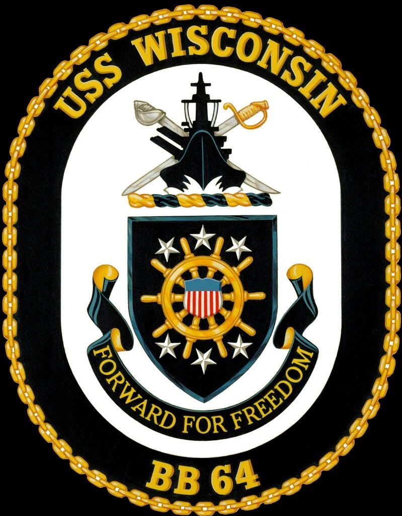 USS Wisconsin (BB 64) 1943 Battleship, Uss iowa, Patches