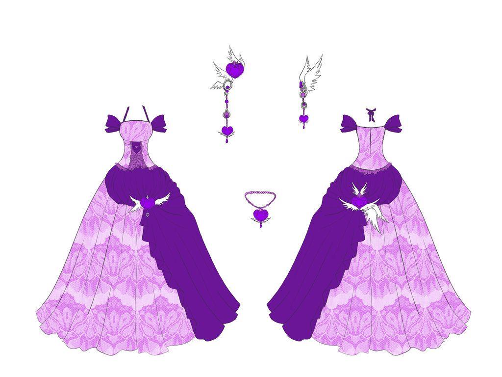 Amethyst Dress Design By Eranthe On Deviantart Anime Dress Cartoon Outfits Amethyst Dress