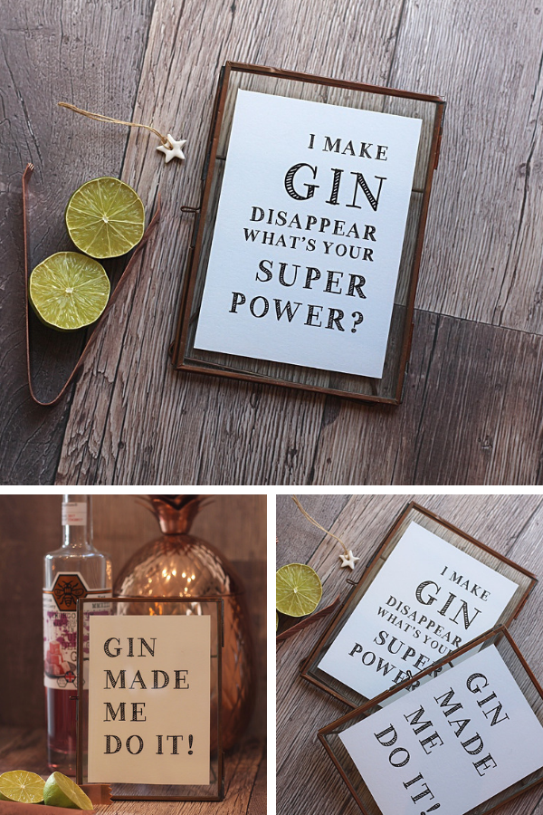 Novelty I Love Gin Bar Sign Black and Red Silver Indoor//Outdoor