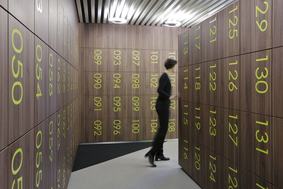 Wardrobe office pinterest fitness design lockers for Designer lockers