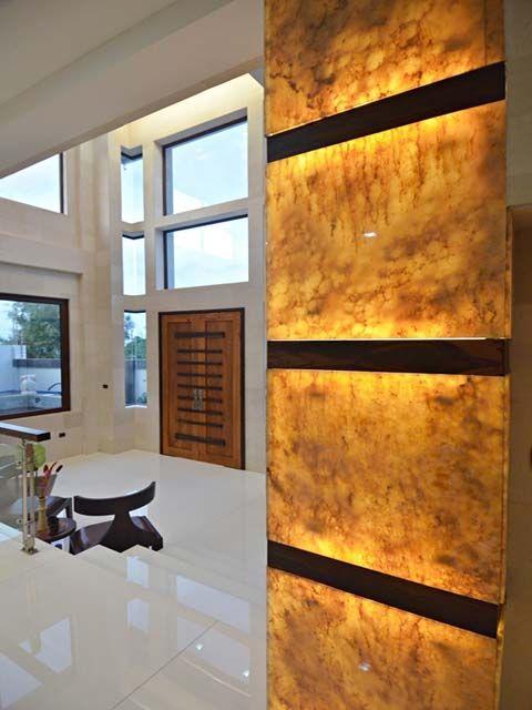 Backlit Onyx Wall Columns Decor Interior Columns Stone Interior