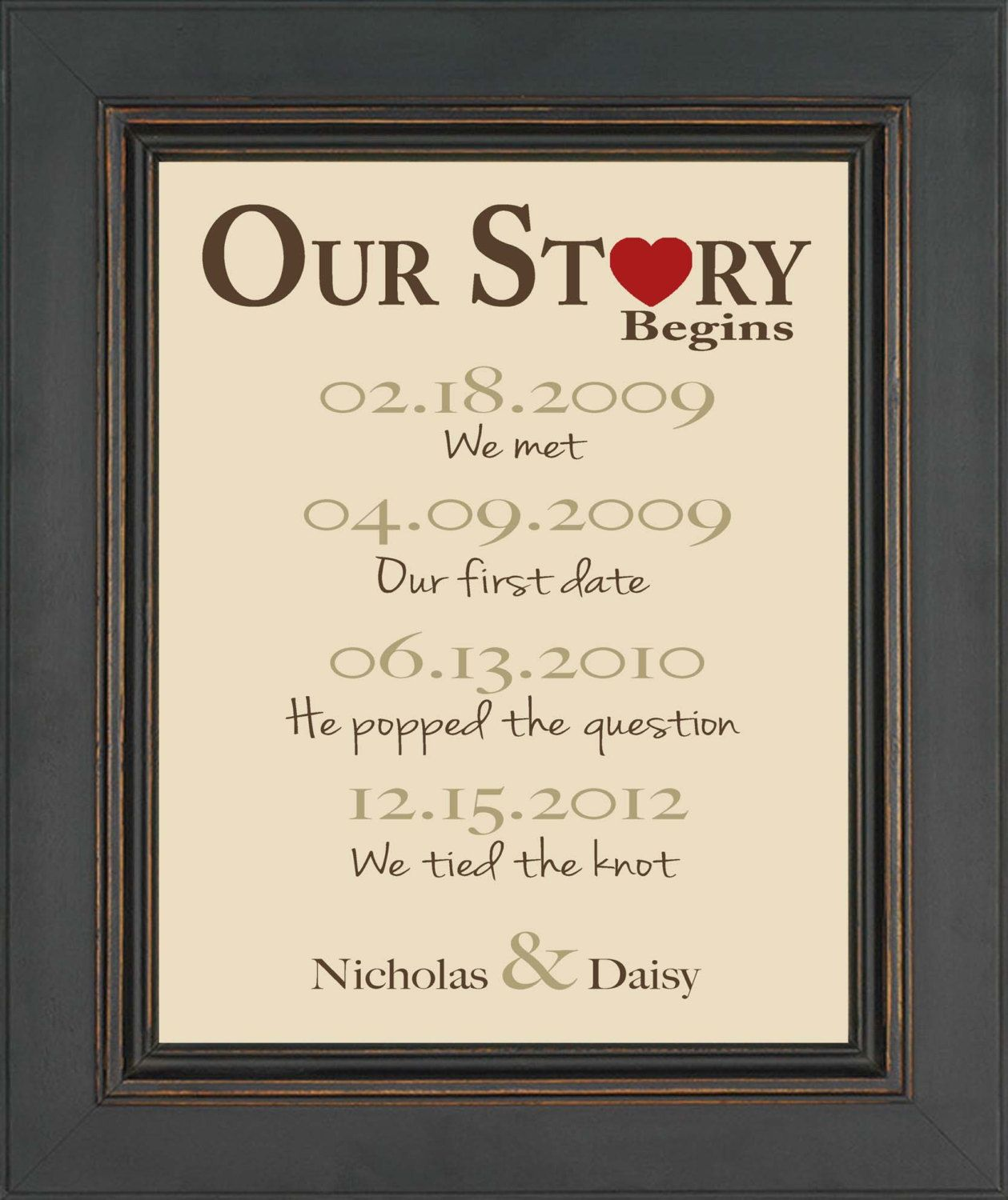 One Year Wedding Anniversary Gifts: Valentine's Day Gift First Anniversary Gift By