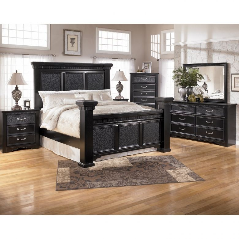 Cavallino Mansion Bedroom Set - Black, bedroom set ...