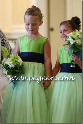 Lime Green Flowers And Navy Blue Bridesmaids Dresses Google