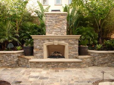 Fireplaces Traditional Patio Orange County Mclaughlin