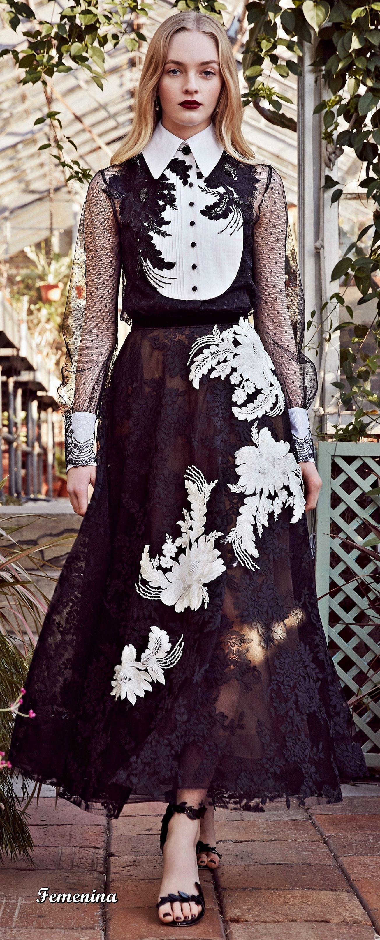 fbc744b705 Marchesa Pre -Fall 2019-2020 Lace Dress Styles