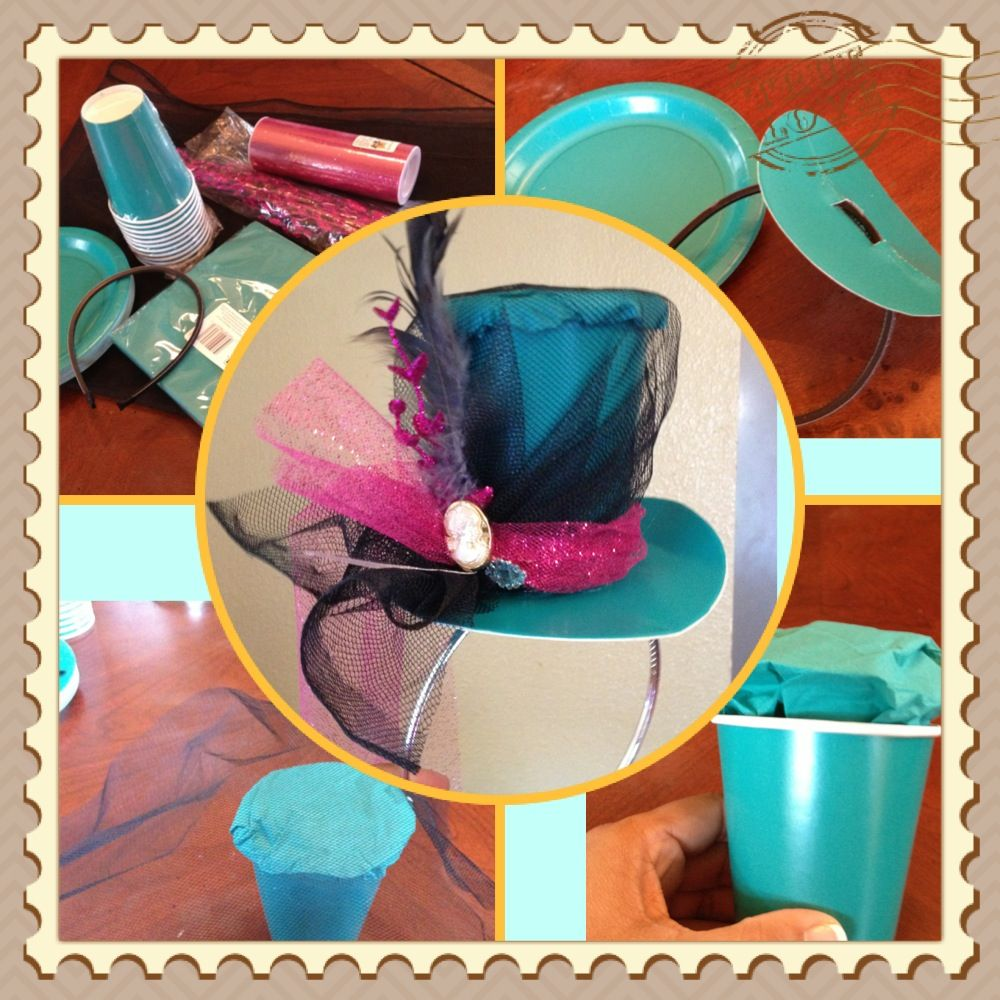 Mad Hatter Hat Out Of Paper Cup & Plates From The Dollar