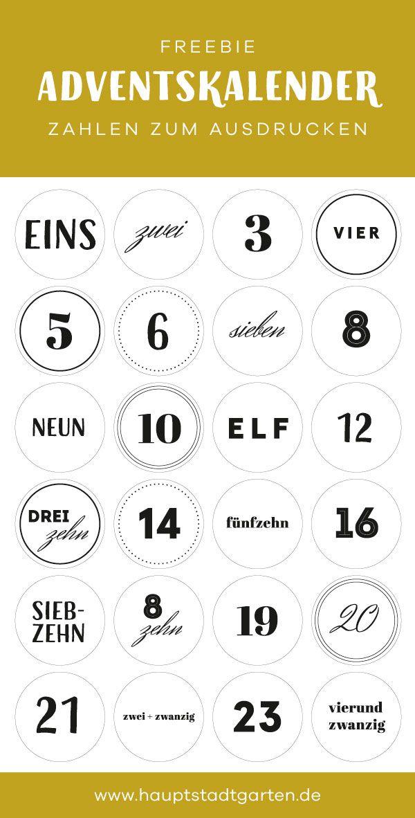 Adventskalender aus Kraftpapier selber machen + Freebie #calendrierdelaventdiy