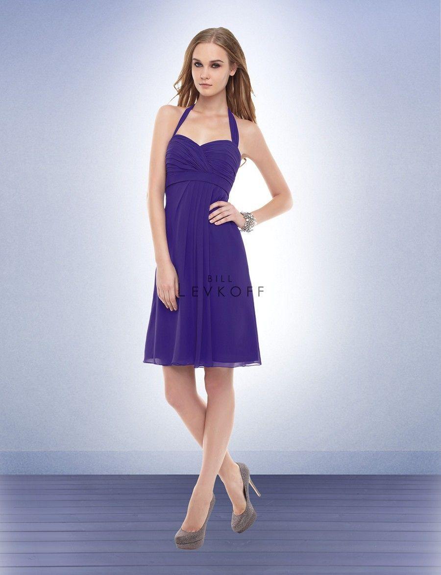 Bill Levkoff 153 Bridesmaid Dress. The halter straps tie along the ...