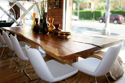 A Wood Slab Dining Table Is Just So Naturally Perfect Sleek