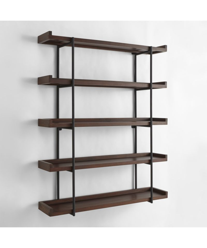 beckett 48 5 tier wall shelf sable reviews crate and barrel rh pinterest com