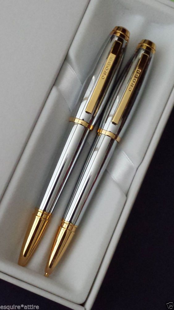 Dayspring Pens - Engraved / Personalized CROSS Classic 10 Karat Gold Plated  Pen and Pencil Gift