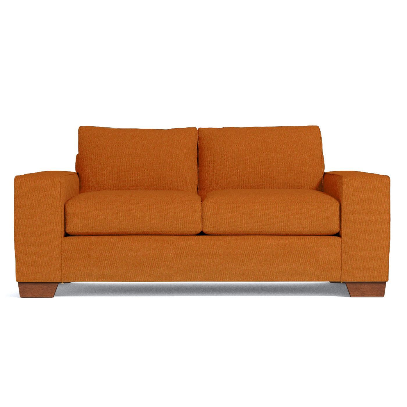 Melrose Apartment Size Sofa Leg Finish Pecan Size Apartment