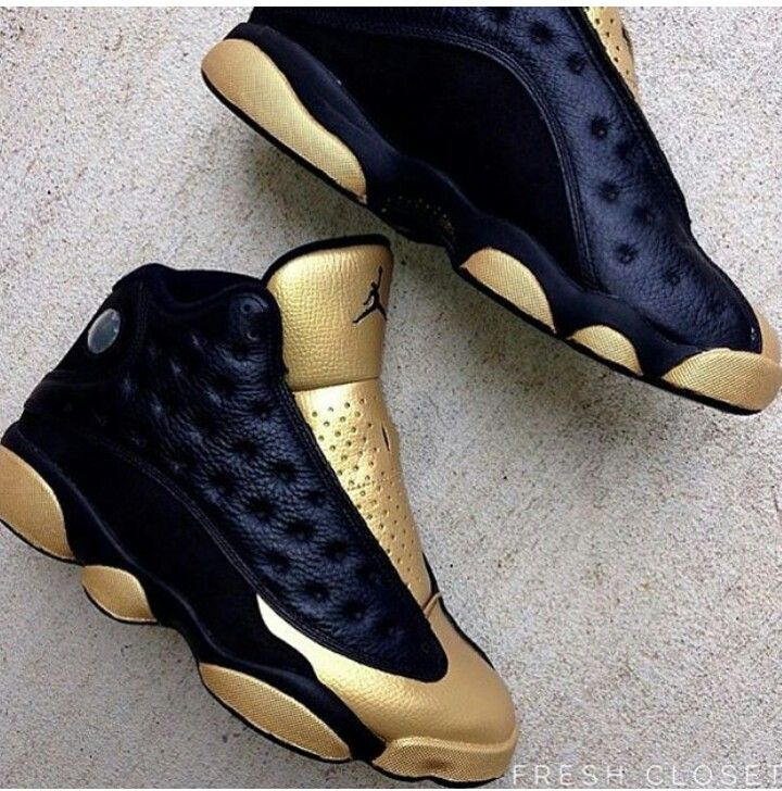 a110baf58cb4 ... nikes Shoes Ankle Boots Booties. Black   Gold Jordan 13 s