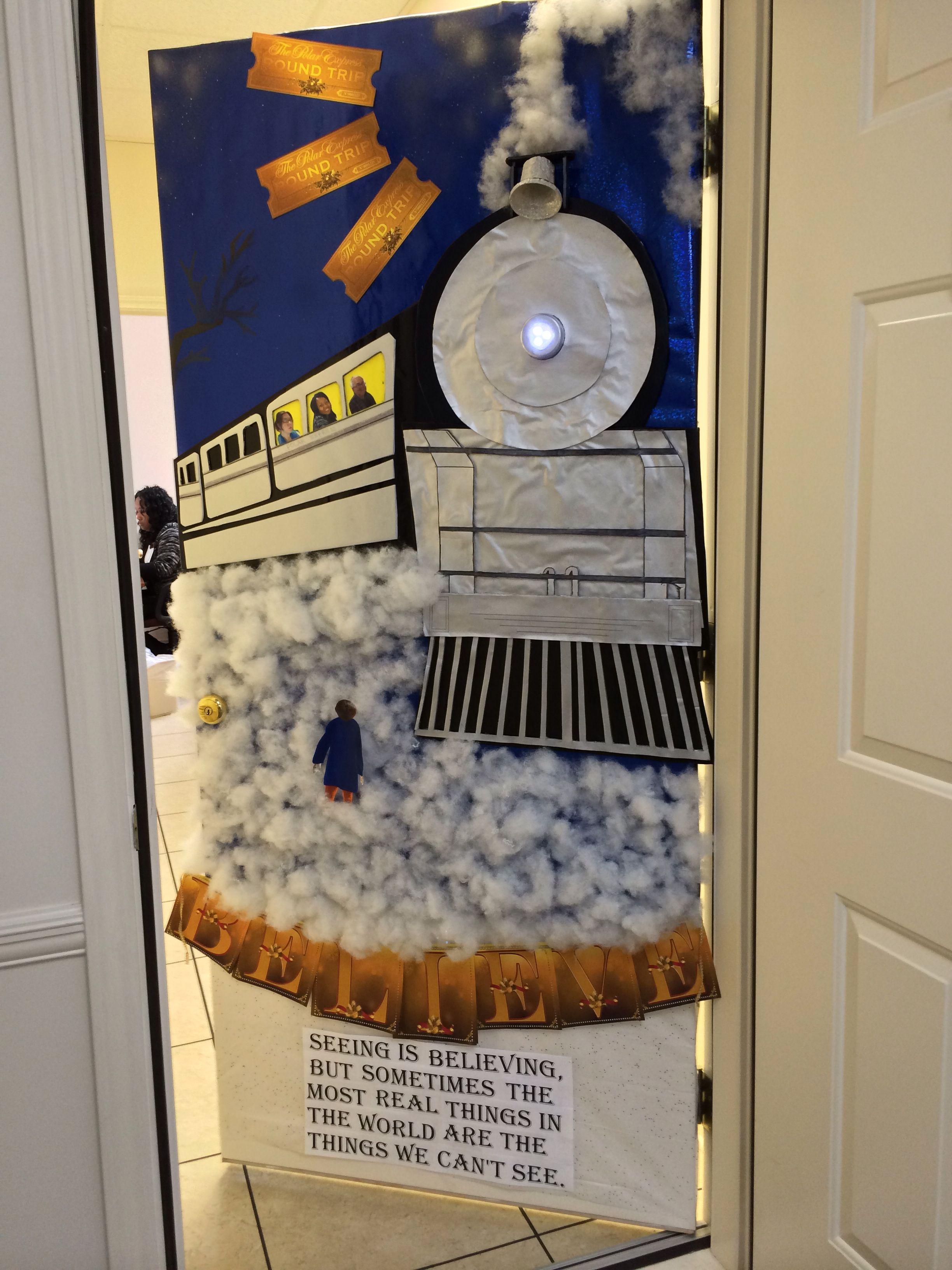Polar Express Classroom Decoration Ideas : Polar express door decoration at work decorating