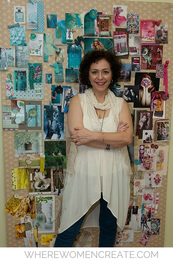 Read about how fabric designer Pat Bravo's love of textiles began at a very young age, and followed her on her journey to America from Argentina, in the summer  2016 issue of Where Women Create.