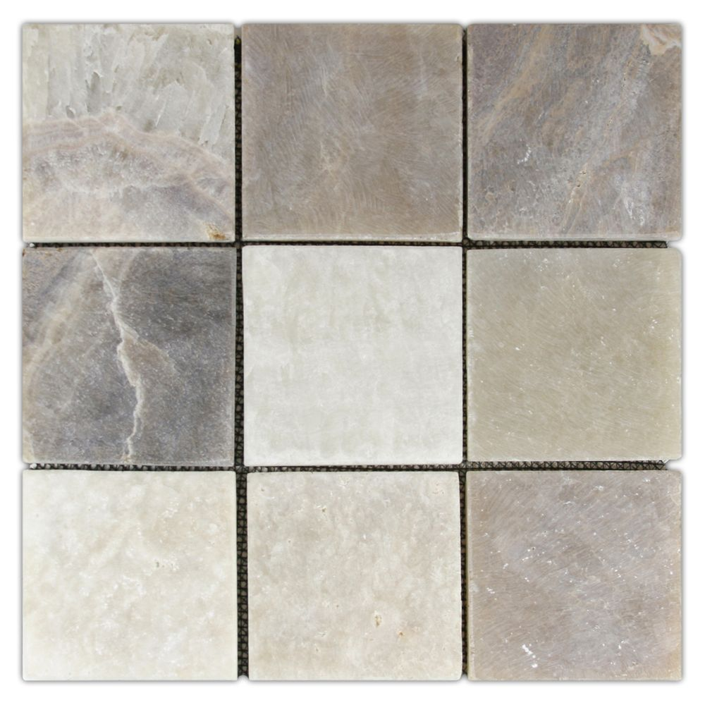 Mixed Quartz 4 X 4 Stone Mosaic Tile Stone Mosaic Tile Stone Mosaic Mosaic Tiles