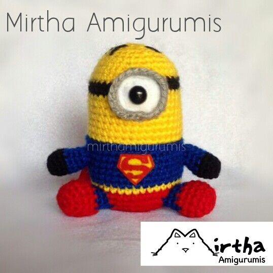 Superman minion by Mirtha Amigurumis #minion #dccomic #amigurumi ...