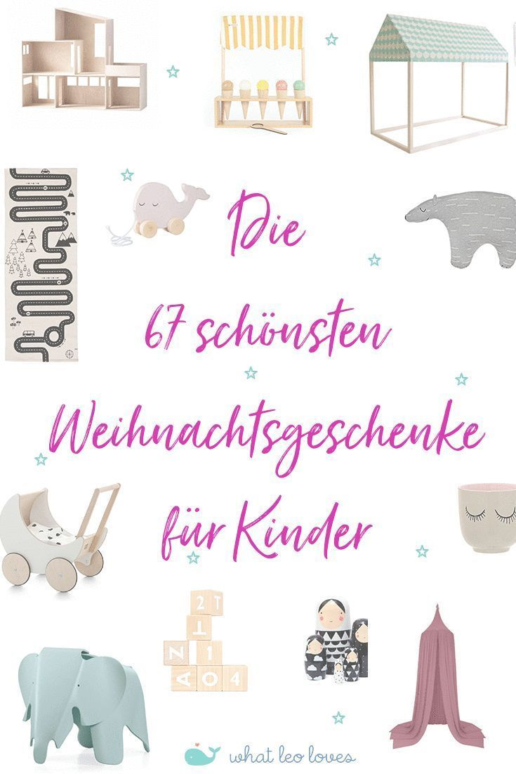 67 dekorative Weihnachtsgeschenke für Kinder von 0-6 Jahren