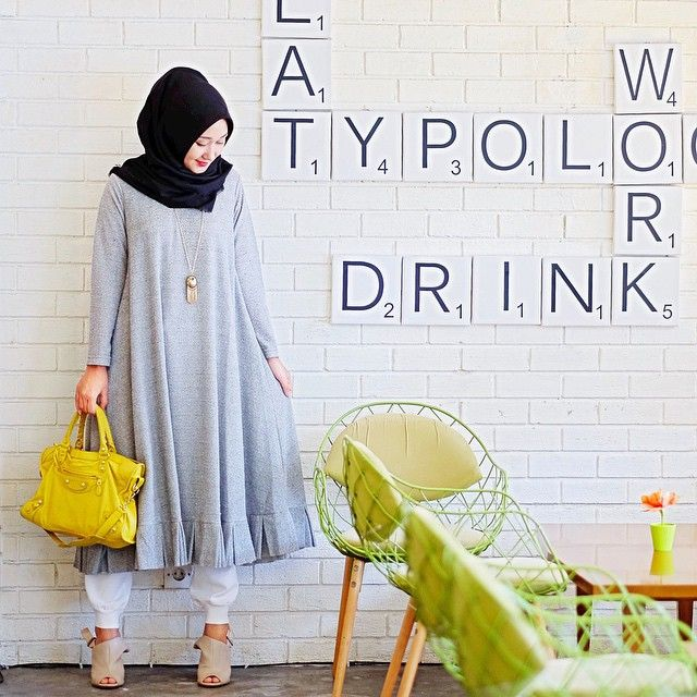 Those meeting kinda day  wearing a cute dress from @ragazzahijab | Dian Pelangi