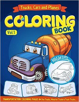 Coloring Pages For Kids Books Truck Book Monster Fire