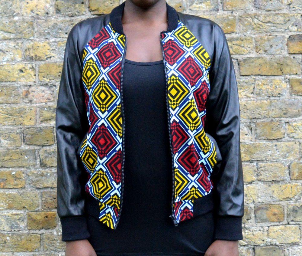 Geometric Ankara Print Bomber Jacket Printed Bomber Jacket Clothing Patterns Jackets [ 846 x 1000 Pixel ]