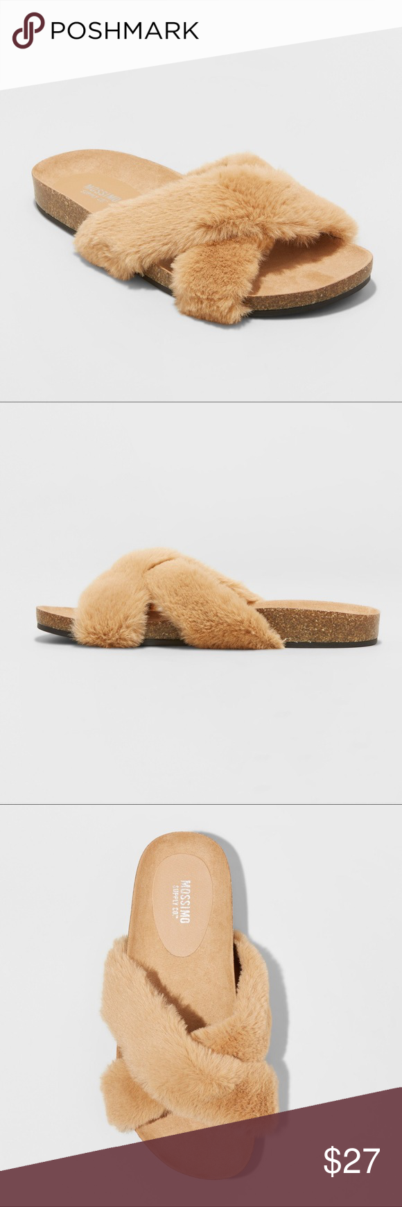 09893cc4cf2f3a Women s Bella Faux Fur Crossband Footbed Sandal Women s Bella Faux Fur  Crossband Footbed Sandal - Mossimo Supply beautiful very soft and fluffy  brand new ...