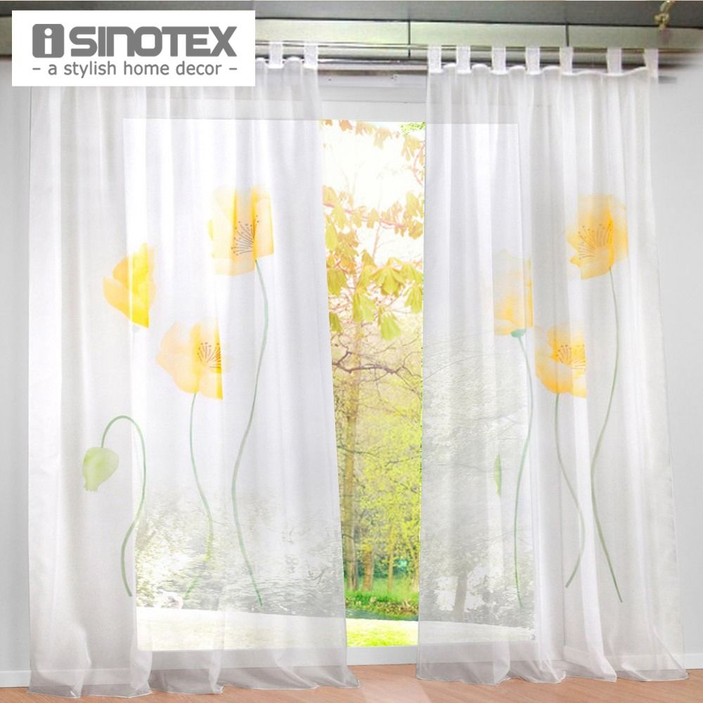Find More Curtains Information About New Design Floral Printing Sheer Window Curtain Voile Screening Panel 1 Curtains Drapes Curtains Window Curtains