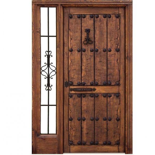 Puertas de madera rusticas pinteres for Puertas de metal para exterior