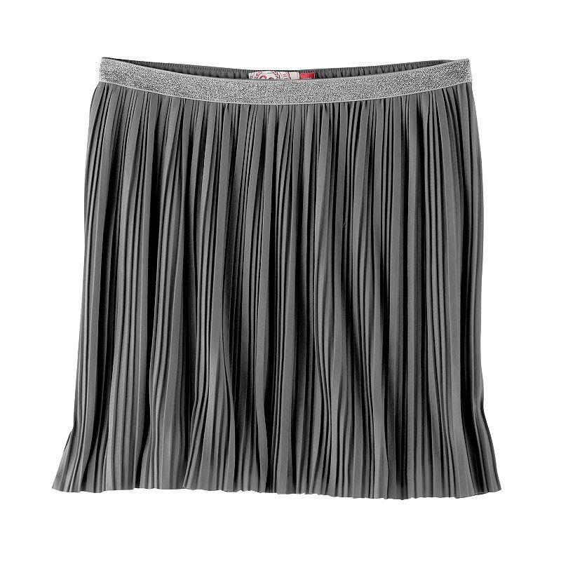 Girls 7-16 SO® Metallic Micro Pleated Skirt, Size: Xxl/16, Light Grey