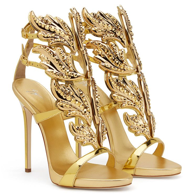 Cruel Crystal Gold Sandals Giuseppe Zanotti