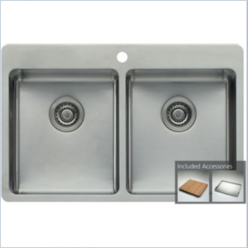 Oliveri - Sonetto Double Bowl Inset Sink - Sydney Taps   house ...