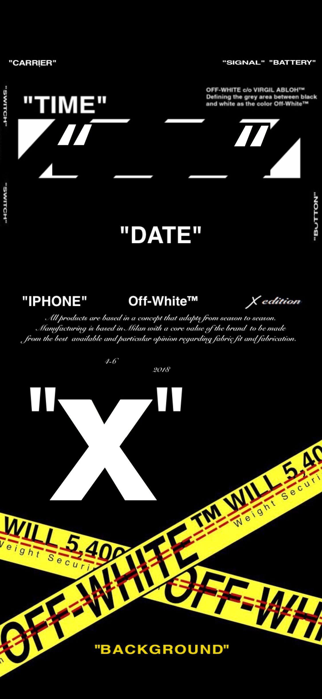 iPhone X edition Off White wallpaper | Fondos de pantalla en 2019 | 아이폰 월페이퍼, 아이폰 배경화면 y 배경화면