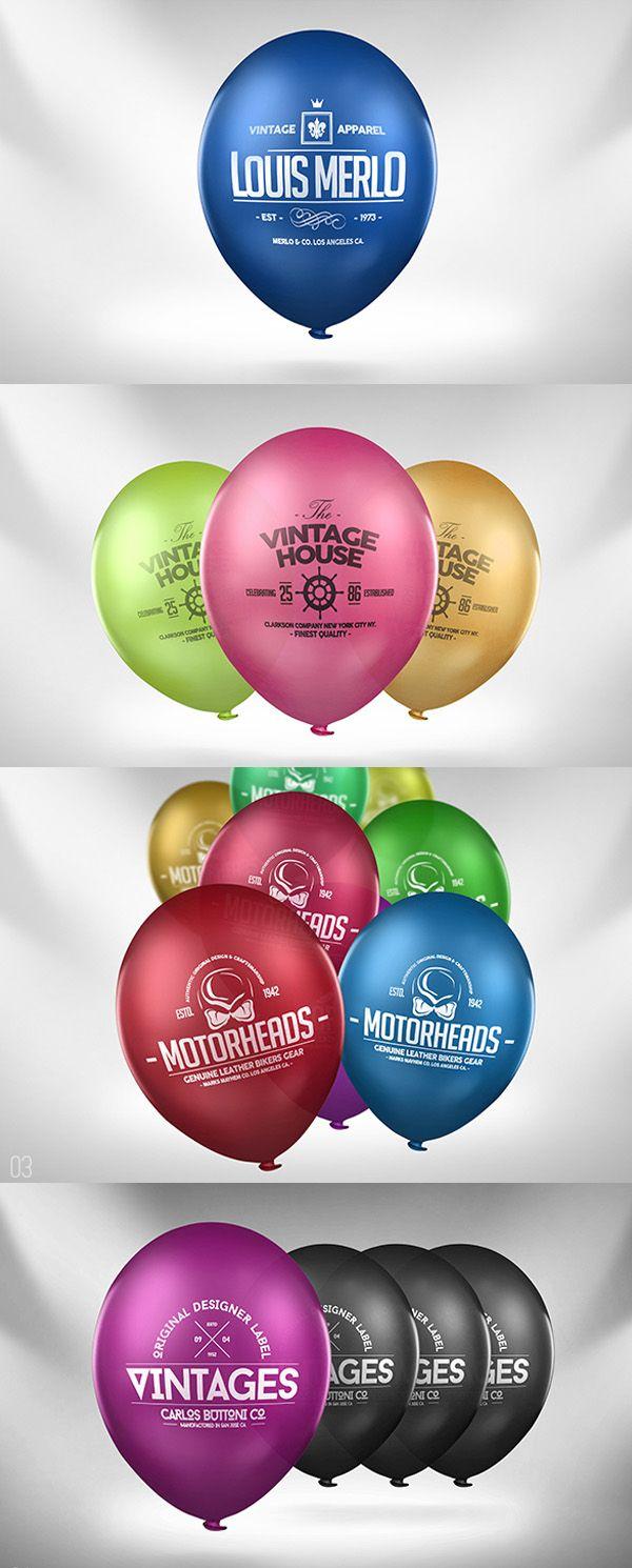 Balloon Logo Mock Up Graphic Design Mockup Design Freebie Mockup Psd