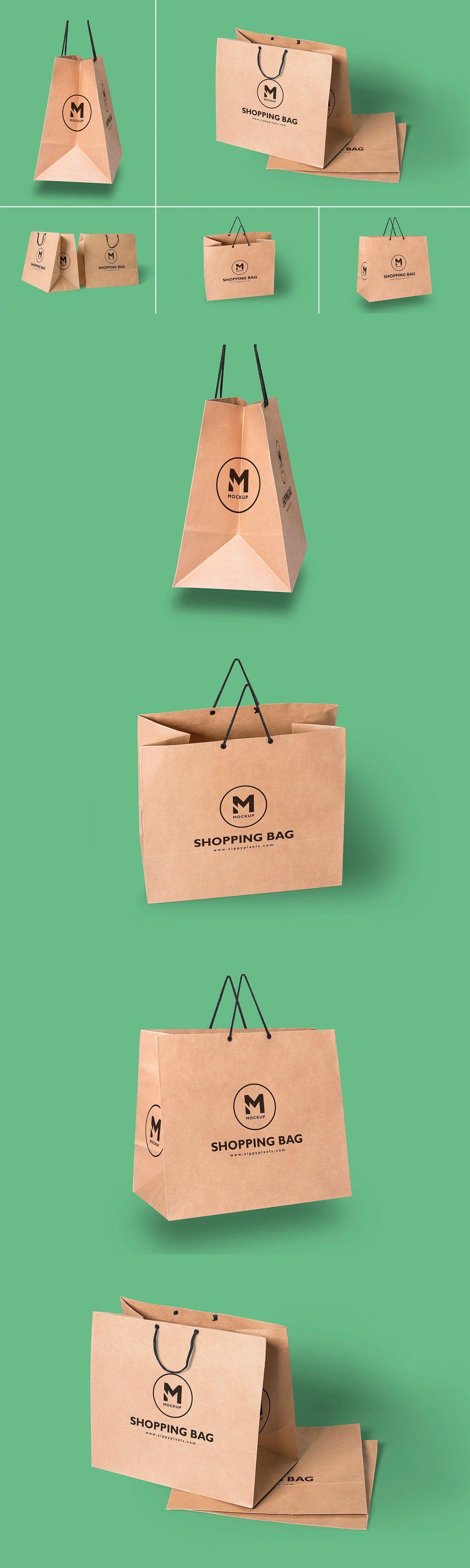 Download Paper Bag Mockups Bag Mockup Folding Bag Presentation Design