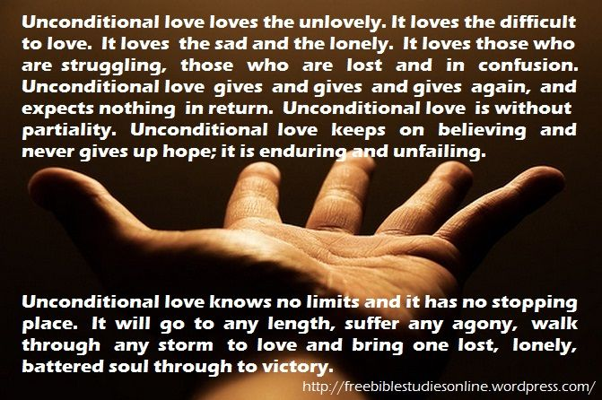 Exceptional Unconditional Love