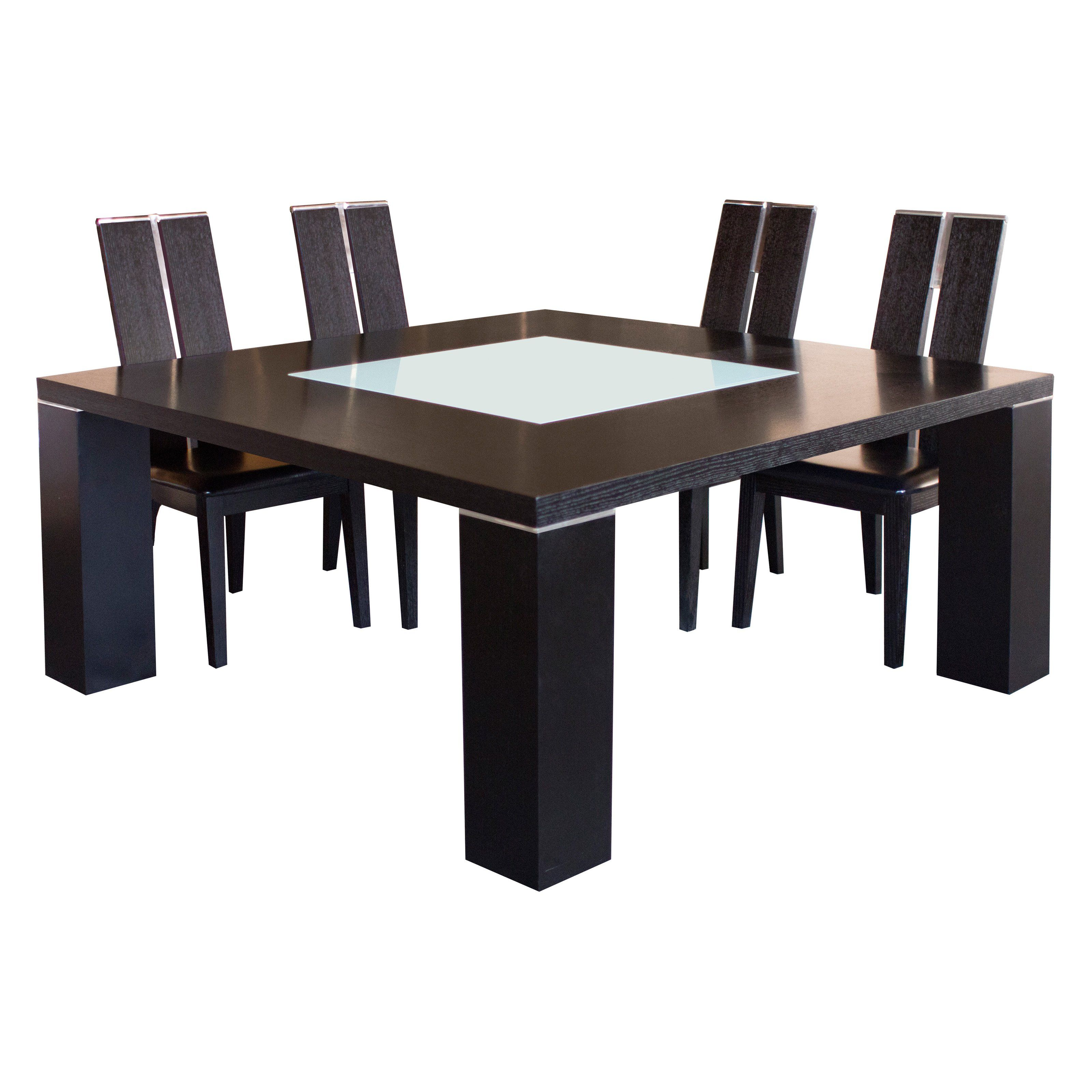 Have To Have Itelite Square Dining Table With Glass Insert Extraordinary Square Dining Room Set Inspiration