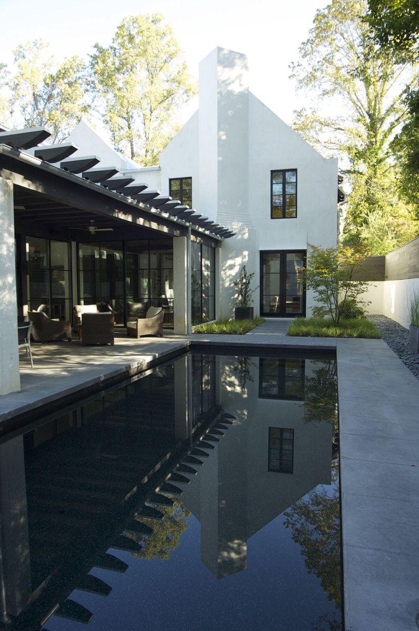 Pin By Ian Thompson On General Landscape Design Exterior Design Modern Pools House Exterior