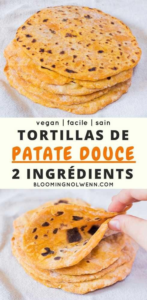 Tortillas de Patate Douce | 2 Ingrédients
