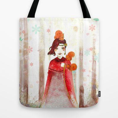 Avec les écureuils Tote Bag by Weinissa - $22.00