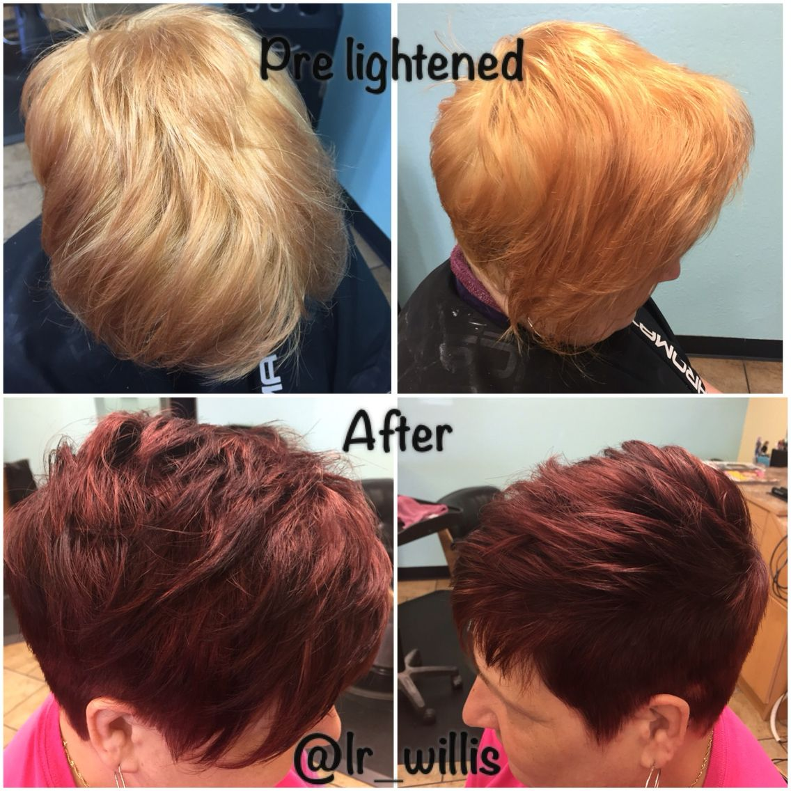 Pixie short hair red violet hair red hair hair makeover