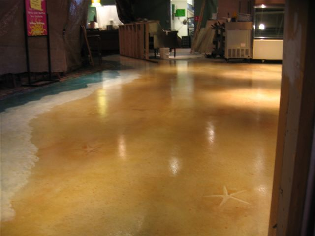 Custom Stained Concrete Floors : Staining fresh concrete custom stamping acid