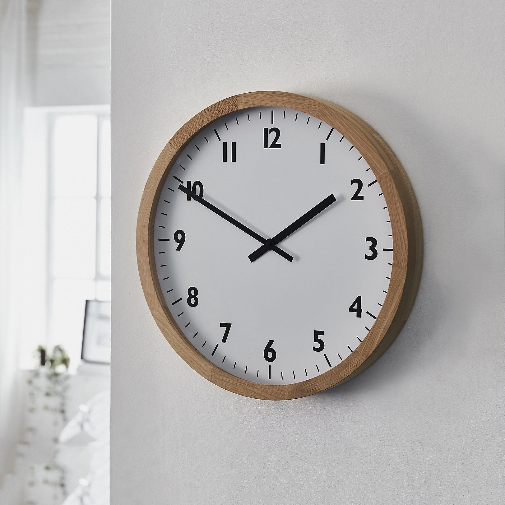 Oak Wall Clock Small Decorative Accessories Home The White Company Uk